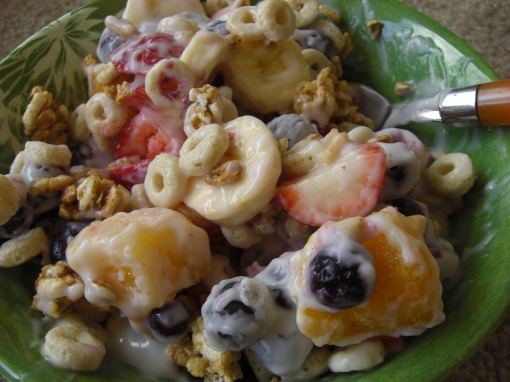 Topped with Oaty-Os and Kashi Go Lean Crunch!